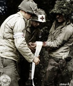 Wounded American Soldier - Normandy France 1944