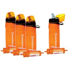 Aquamira Water Basics Water Filter Bottle Combo 4-pack by Nutristore
