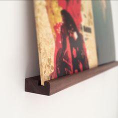 Now Playing Wall Hanging Record Shelf - Double by NicoleDavidFurniture on Etsy https://www.etsy.com/listing/265936274/now-playing-wall-hanging-record-shelf