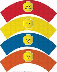 Lego Party Free Printable Cupcake Wrappers and Toppers. - Oh My Fiesta! for Geeks Kai Lan, Lego Printable Free, Free Printables, Lego Birthday Party, 2nd Birthday, Birthday Ideas, Big Hero 6, Tardis, Power Rangers