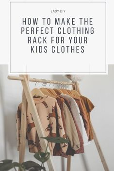 Here's an easy tutorial to make a wooden clothing rack for your children. – Share All Your Pins (Group Board) – Clothing Hacks Kids Clothing Rack, Diy Clothes Rack, Clothing Hacks, Clothing Websites, Clothing Ideas, Women's Clothing, Kids Clothesline, Do It Yourself Jewelry, Cheap Kids Clothes