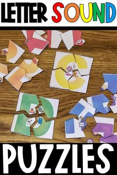 These printable hands-on alphabet sound puzzles are a great way to practice beginning sounds and alliteration during small group, guided reading, RTI, or centers! Make phonics fun in your pre-k or kindergarten classrooms. Alphabet Activities, Kindergarten Activities, Learning Activities, Teaching Resources, Kindergarten Reading, Educational Activities, Preschool, Alphabet Sounds, Letter Sounds