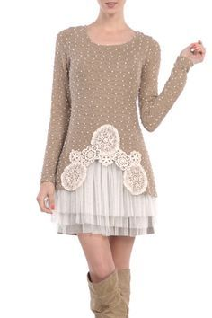 A sweater. Tulle.