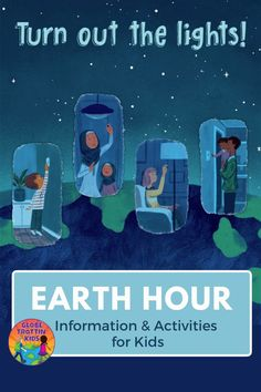 Earth Hour activities for thinking critically about how our daily choices impact Earth and its ecosystems and how we can help reverse climate change. Earth Hour, Planet Earth, Service Projects For Kids, Kids Globe, Famous Monuments, Celebration Around The World, Energy Conservation, Global Citizen, Equinox