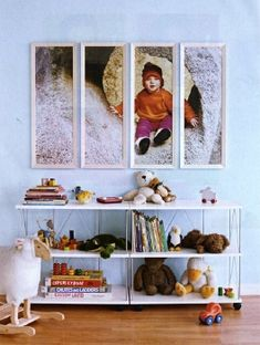 Ruby, you should do this with the frames hanging in your bathroom (when you want to do something different of course :)