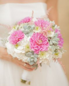 Modern bouquet with suculents