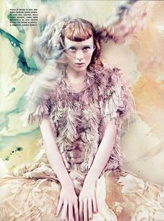 Watercolor Fantasy Couture - 'Pure Wonder' in Vogue Italia (GALLERY)
