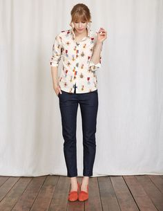 Our bestselling wardrobe staple is back, although it's not quite business as usual. We've lost the pocket, slimmed the placket and refined the collar for a more modern silhouette. Choose from bold prints as well as white and chambray options.