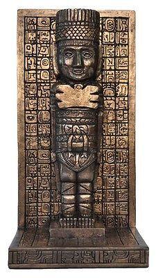 Veronese-Bronze-Figurine-Maya-Mayan-Statue-Bookend-Single-Gift-Mythology