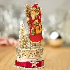 Vintage-Inspired+Santa+Clause+Trinket+Box