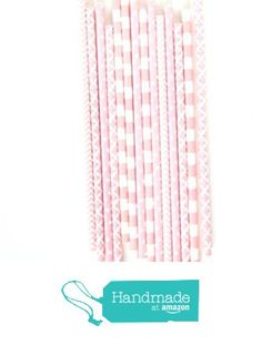 Shabby Chic 1st Birthday, Party In A Box, Straws, Pink Stripes, Biodegradable Products, Blush Pink, Chevron, Amazon, Handmade