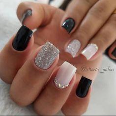 Fall Acrylic Nails, Acrylic Nail Designs, Nail Art Designs, Nails Design, Classy Nail Designs, Square Nail Designs, Short Nail Designs, Stylish Nails, Trendy Nails