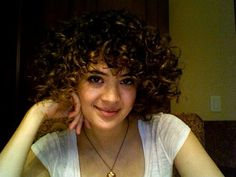 Curly bob with curly bangs. CURLY BANGS! It can be done!