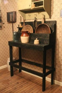 DIY dry sink from reclaimed wood! Beautiful rustic charm!