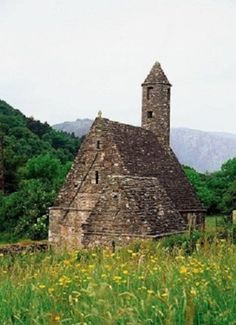 Stone Church in Glendalough, Ireland