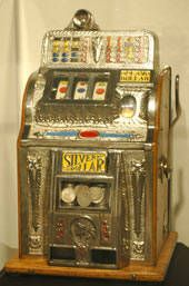 vintage slot machines. My grandma used to have one of these.