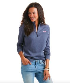A fresh take on your favorite layering piece! Soft and cozy, Vineyard Vines Heathered Shep Shirt in Deep Bay gets the heathered treatment that ups its casual cool. - 100% cotton-French terry - 2X2 rib
