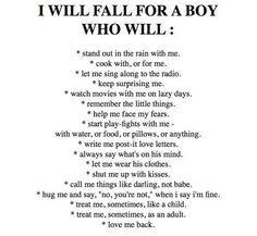 I will fall in love...