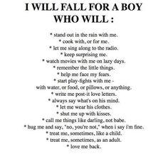 I will fall in love...