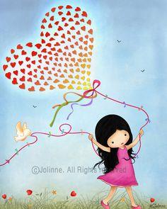 Kids wall art Girls room decor Nursery art print Kids di jolinne