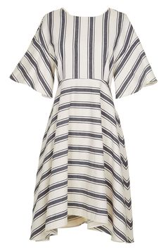 The flattering cut makes this the peasant dress of your dreams | Tibi Ariel Stripe Cape Sleeve Dress