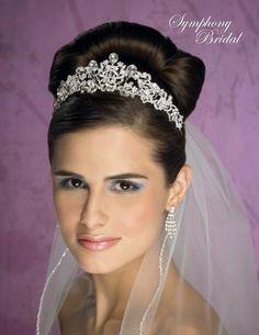 tiara veils | ... Tiaras, Fall 2011. Crystal & rhinestone filagree crown. Veil Not