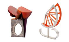 Part of The Local Smiths, this series of unique rings will definitely make people take notice. The sculptural pieces are colorful, edgy and one-of-a-kind.