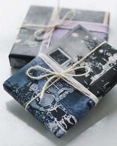 Custom Vintage Photo Giftwrap with family photos