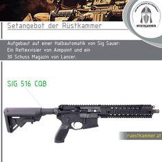 SIG Sauer SIG 516 CQB + AIMPOINT PRO Patrol Rifle Optic + LANCER L5AWM Magazin (30 Schuss) Mehr Details in unserem Onlineshop: Sig Sauer, Aimpoint Pro, 30th