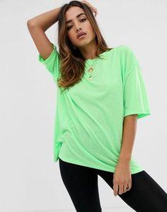 6921e13c21b ASOS DESIGN - T-shirt ultra oversize délavé - Vert fluo