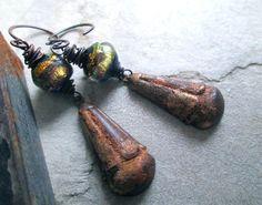 THE EMPRESS SEASON Urban Primitive Dangle by MangledMuttStudios Handmade - Jewelry - Jewellery - Earrings