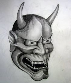 Wings Tattoo Ideas And Their Meanings Hanya Mask Tattoo, Hannya Tattoo, Top Tattoos, Sexy Tattoos, Black Tattoos, Japanese Hannya Mask, Japanese Peony Tattoo, Oni Mask, Black And White Google