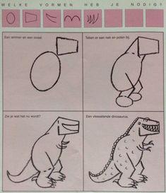 Dino 1 leren tekenen