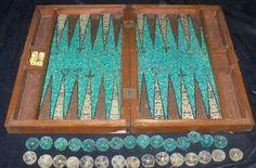 backgammon board - mayan glyph style