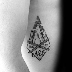 60 Ski Tattoos für Männer Eine GondelbahnEntwurfsIdeen Tattoos Ideen