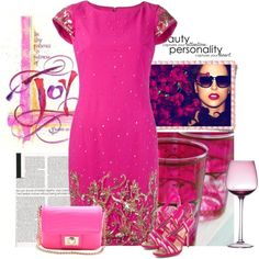 cocktail pink dress by bodangela on Polyvore featuring polyvore, fashion, style, Notte by Marchesa, Paul Andrew, Juicy Couture, Radcliffe and Betty Jackson