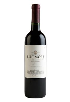 Biltmore Estate Sangiovese (Bottle: $18.99)  Food Pairings: •Beef •Mushroom Dishes •Pasta With Red Sauce •Sausage •Veal  Vintage: 2012 Varietal: Sangiovese Appellation: American Acidity: 0.56 pH: 3.60 Residual Sugar: 0.4% Alcohol: 14.1%  Awards: Gold - North Carolina State Fair Wine Competition 90 points - Beverage Testing Institute