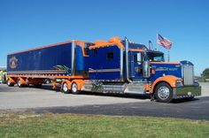 truckingworldwide:   kenworth custom with reffer