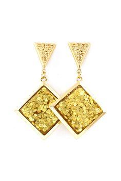 Gold Flake Rivka Earrings | Emma Stine Jewelry Earrings