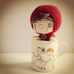 Ohayou! おはよう☀ super cute little red riding hood crochet doll  THIS. IS THE CUTEST THING EVER.
