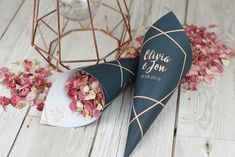 I've just found Geometric Personalised Wedding Cones With Confetti. Complete your wedding with these Geometric themed personalised cones filled with your choice of biodegradable petal confetti. Confetti Basket, Confetti Cones, Confetti Ideas, Biodegradable Confetti, Biodegradable Products, Wedding Ceremony Decorations, Wedding Favours, Wedding Reception, Wedding Cakes