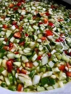 Home Canning Recipe - Cucumber Relish - One Hundred Dollars a Month Cucumber Relish Recipes, Pickled Cucumber Salad, Salsa Canning Recipes, Cucumber Canning, Chutney Recipes, Canning Tips, Veggie Recipes, Salad Recipes, Canning Vegetables