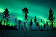 Aurora Borealis Over Sweden