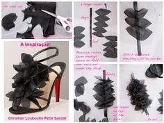 ARTE COM QUIANE - sandálias customizadas com tecido