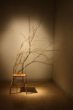 Sarah Pinyan posted Natural Chair Design From Tree Branch by Danya Pugliese to her -nice signs- postboard via the Juxtapost bookmarklet. Twig Furniture, Unique Furniture, Furniture Design, Take A Seat, Wabi Sabi, Modern Chairs, Wood And Metal, Tree Branches, Chair Design