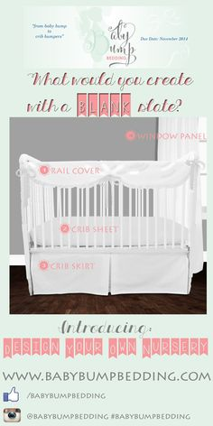 Baby bedding sets by Baby Bump Bedding and Decor 2 Ur Door. Shop our brand new baby crib bedding sets for the top nursery trends. Custom Baby Bedding, Baby Crib Bedding Sets, Nursery Bedding, Nursery Decor, Bump Beds, Gender Neutral Baby, Nursery Design, Design Your Own, New Baby Products