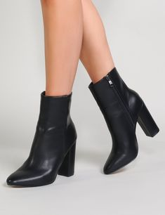 d92885fa1c91 Make your feet the centre of attention with our black ankle boots.  Featuring a chunky