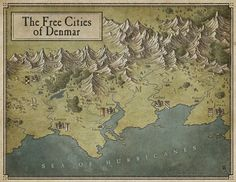 This set of maps was a commission for a kickstarter pen and paper RPG setting project. As usual, it's digitally hand-drawn in PS, each map is US Letter size. © M.PLASSE 2015 - All rights reserved