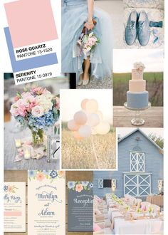 Pale blue and pink