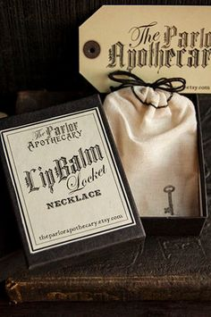 Lip+Balm+Locket+Necklace+++Victorian+Gold+by+TheParlorApothecary,+$38.00